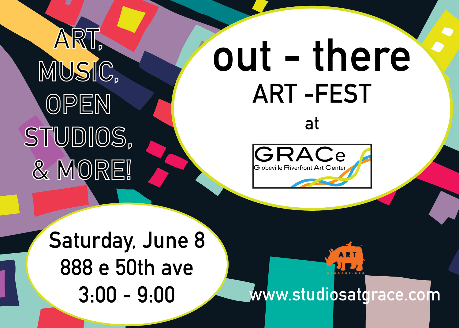 Save June 8th for the out there art fest at GRACe, Tim having a liquidation sale