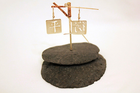 Balance Sculpture with earrings